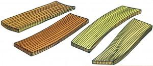 Деформация древесины, фото