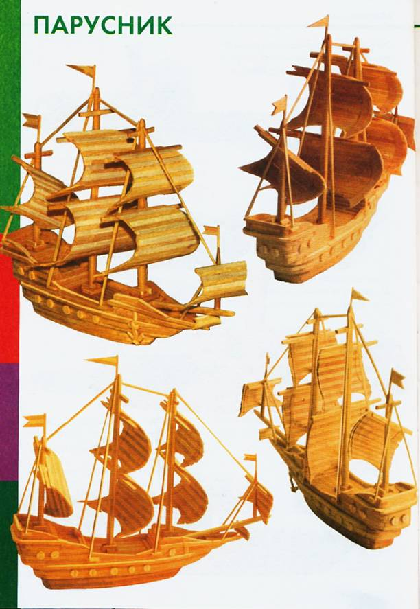 Схема парусника макета