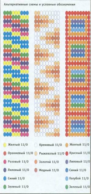 Схемы плетения ленты из бисера