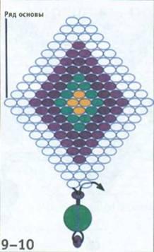 Плетение в технике кирпичики
