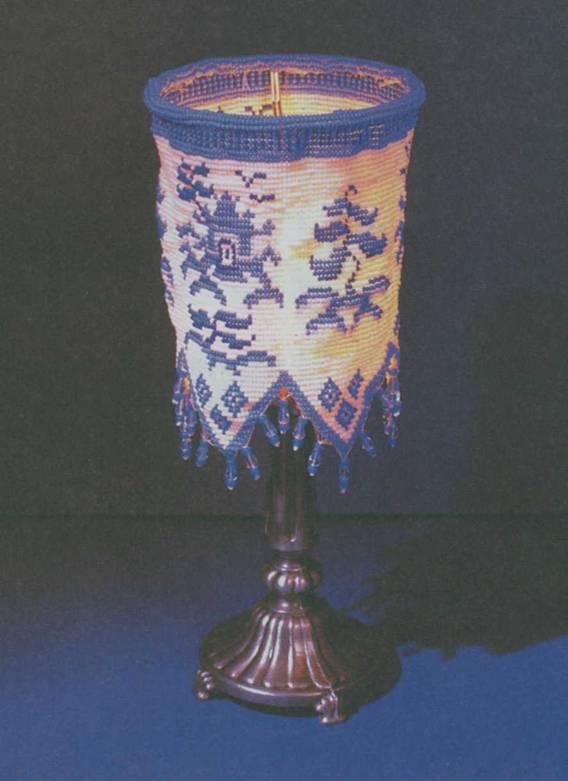Абажур из бисера - необходимые материалы. круглый бисер 6/0: темно-синий...