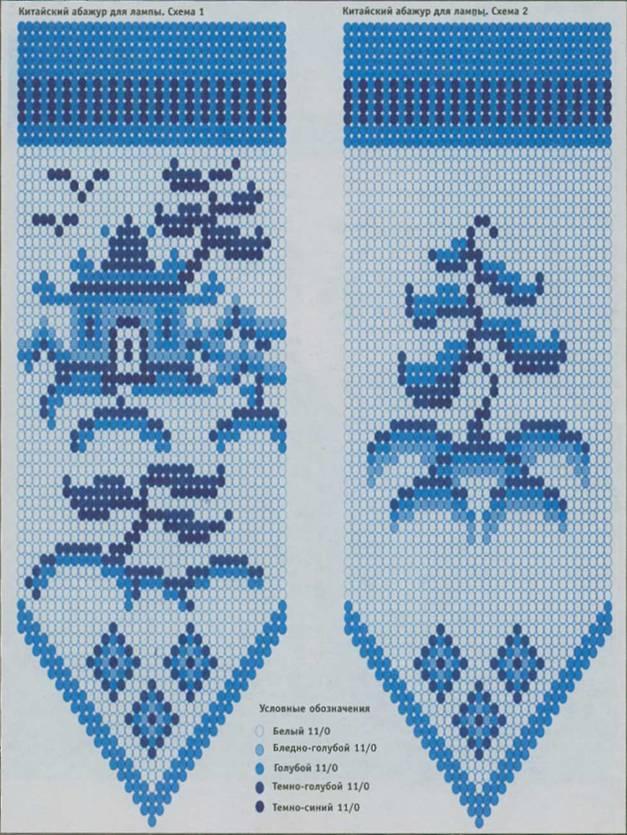 Схема китайского абажура из