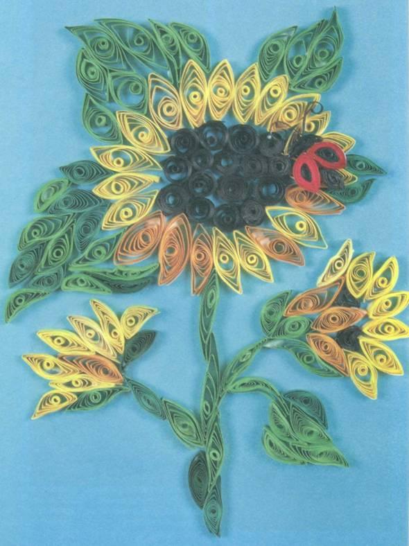 Квиллинг, схема цветка «