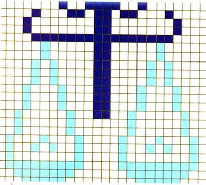 Схема вышивки крестиком весов
