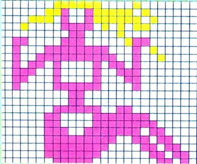 Схема вышивки крестиком девы