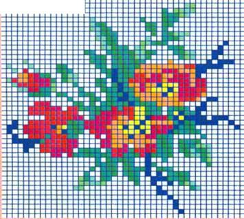 Картинки букетов цветов для вышивки 184
